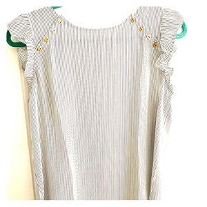 Loft striped sleeveless blouse